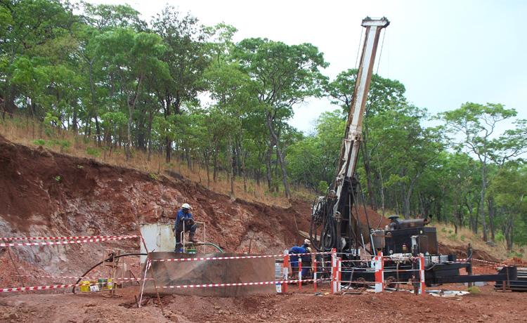Drilling in Mwinilunga